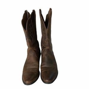 ARIAT HERITAGE R TOE Brown Western Boots 8.5